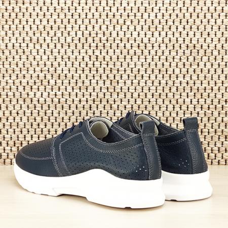 Pantofi piele naturala bleumarin Angela [3]