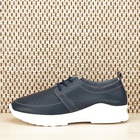 Pantofi piele naturala bleumarin Angela [0]