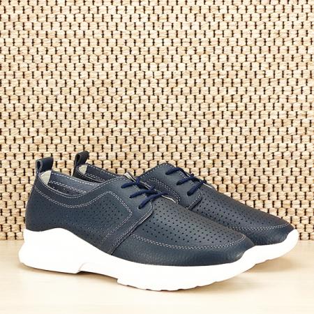 Pantofi piele naturala bleumarin Angela [2]