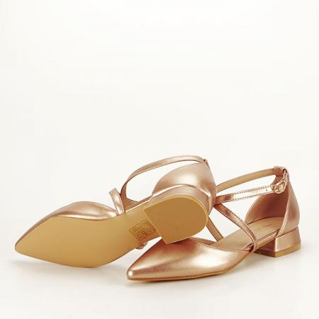 Pantofi champagne cu toc mic Carmen [6]