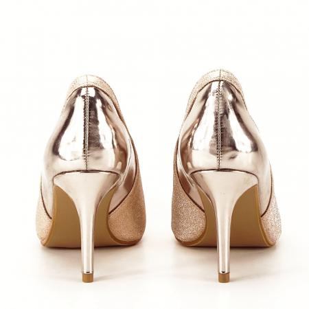 Pantofi champagne eleganti Melania [3]