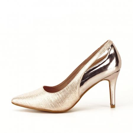 Pantofi champagne eleganti Melania [0]