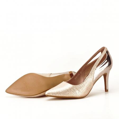 Pantofi champagne eleganti Melania [6]