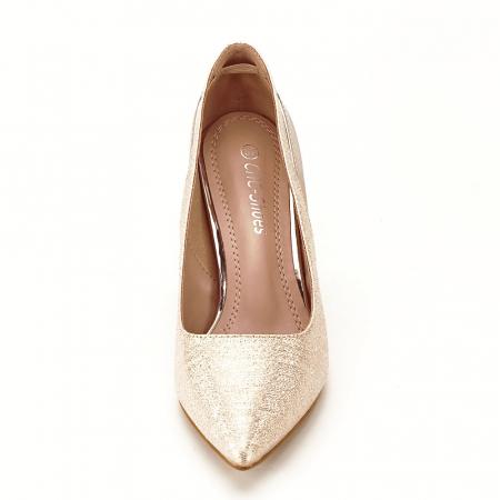 Pantofi champagne eleganti Melania [7]