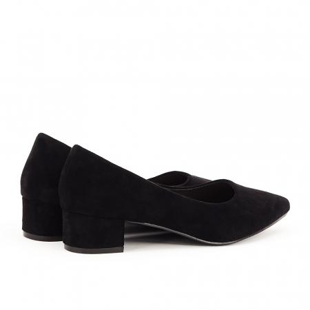 Pantofi negri cu toc mic Elisa3