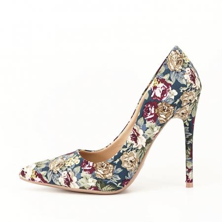 Pantofi cu imprimeu floral Rosa0