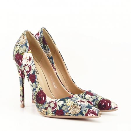 Pantofi cu imprimeu floral Rosa4