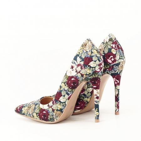 Pantofi cu imprimeu floral Rosa2