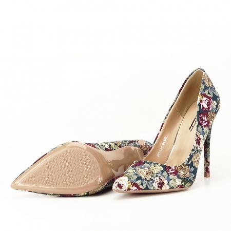 Pantofi cu imprimeu floral Rosa5