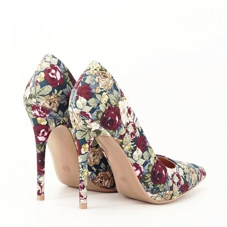 Pantofi cu imprimeu floral Rosa3
