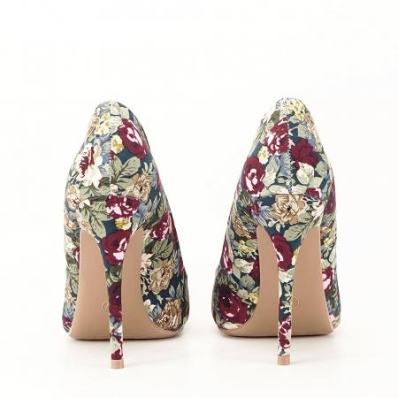 Pantofi cu imprimeu floral Rosa7