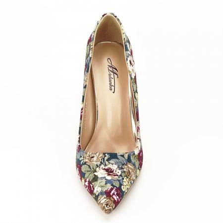 Pantofi cu imprimeu floral Rosa6