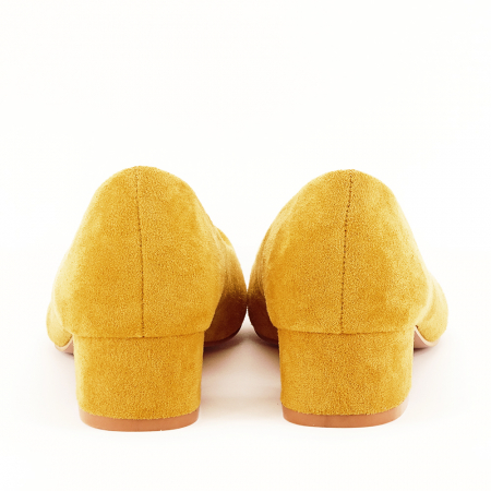 Pantofi galbeni cu toc mic Elisa [6]
