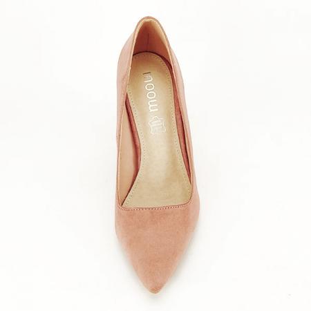 Pantofi cu toc nude Leila1