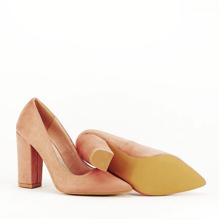Pantofi cu toc nude Leila7