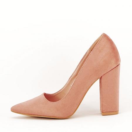 Pantofi cu toc nude Leila0