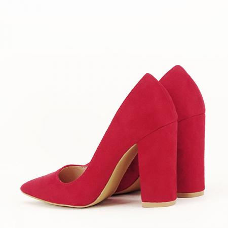 Pantofi cu toc rosii Leila [5]