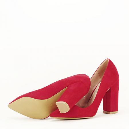 Pantofi cu toc rosii Leila [7]