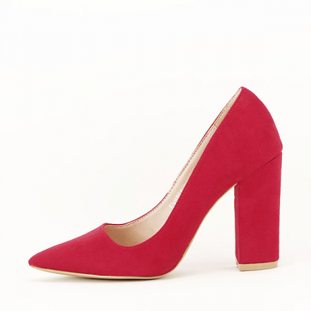 Pantofi cu toc rosii Leila [0]