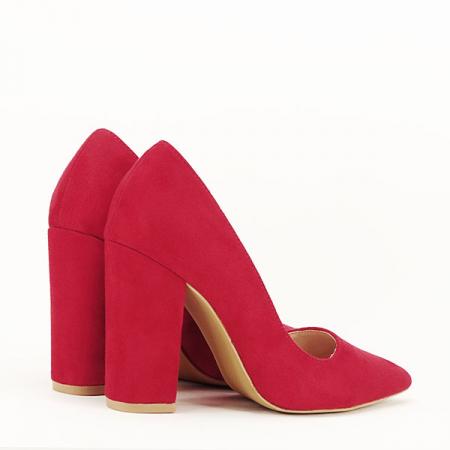 Pantofi cu toc rosii Leila [4]