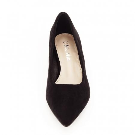 Pantofi negri cu toc mic Elisa5