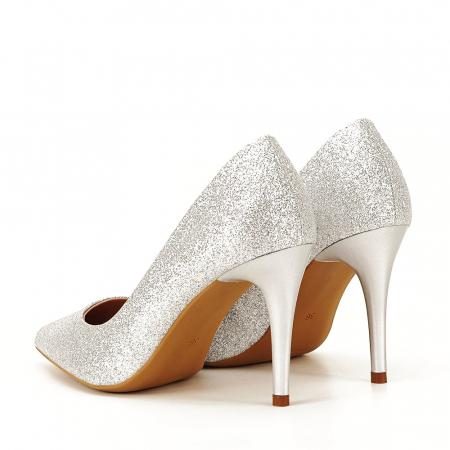 Pantofi eleganti argintii Claudia [7]