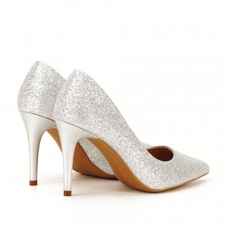 Pantofi eleganti argintii Claudia [3]