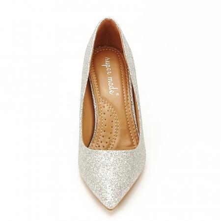 Pantofi eleganti argintii Claudia [2]