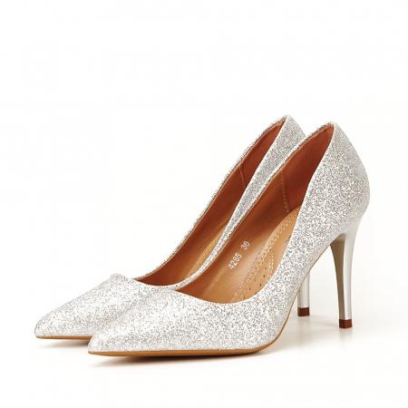 Pantofi eleganti argintii Claudia [1]