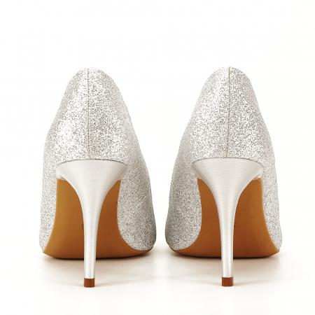 Pantofi eleganti argintii Claudia [4]