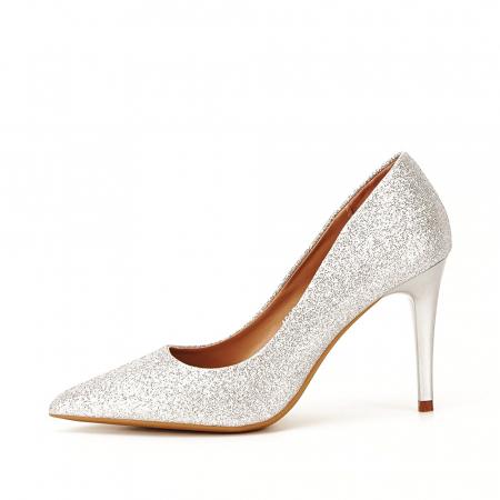 Pantofi eleganti argintii Claudia [0]