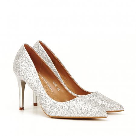 Pantofi eleganti argintii Claudia [6]