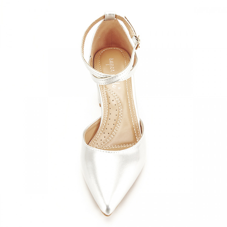 Pantofi eleganti argintii Lola [6]