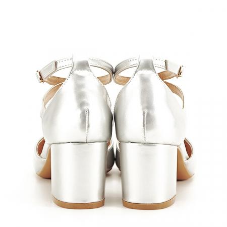 Pantofi eleganti argintii Lola [5]