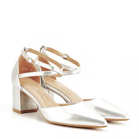 Pantofi eleganti argintii Lola [2]