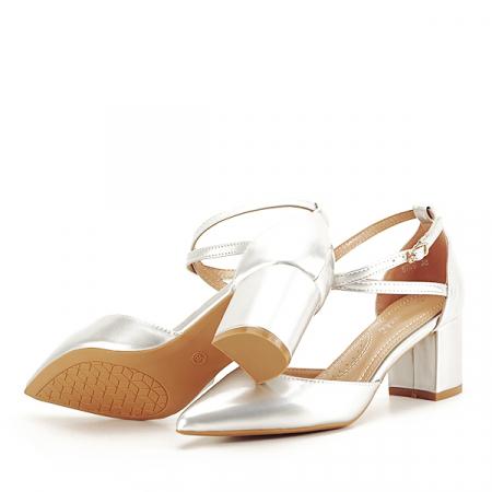Pantofi eleganti argintii Lola [7]