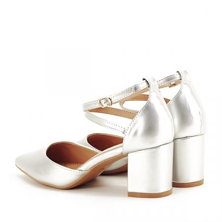 Pantofi eleganti argintii Lola [3]