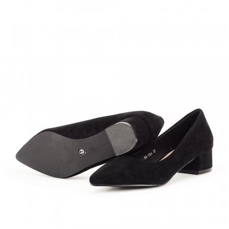 Pantofi negri cu toc mic Elisa6