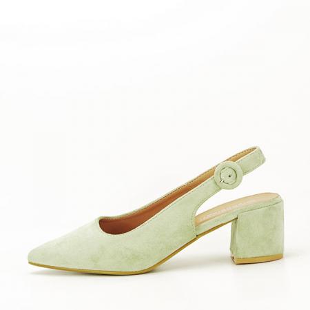 Pantofi fistic cu toc mic Simina [0]