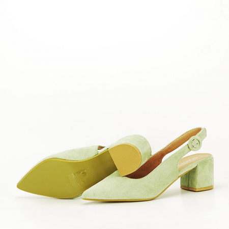 Pantofi fistic cu toc mic Simina [7]