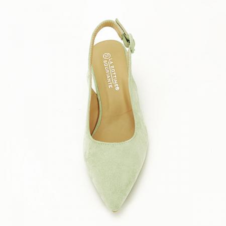 Pantofi fistic cu toc mic Simina [6]