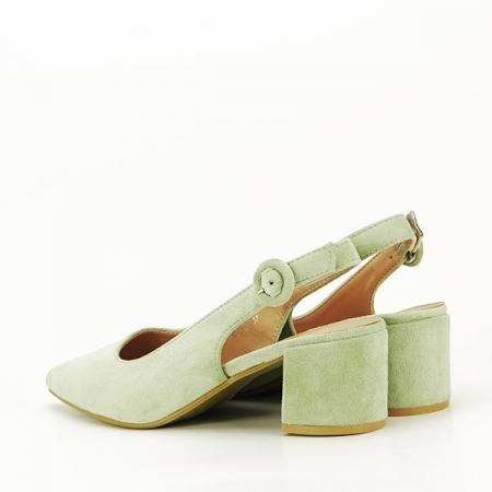 Pantofi fistic cu toc mic Simina [3]