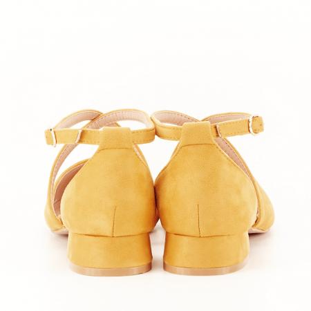 Pantofi galben mustar cu toc mic Carmen6