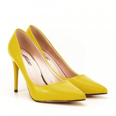 Pantofi galbeni cu toc Irina [4]