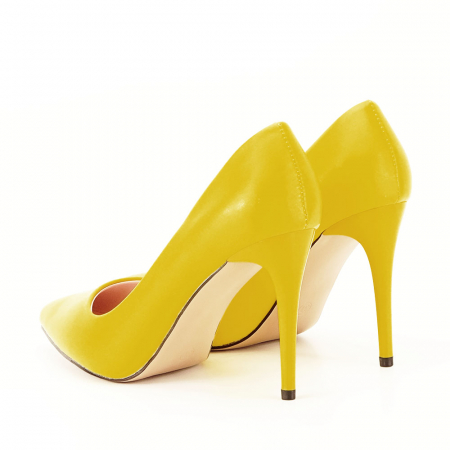 Pantofi galbeni cu toc Irina [5]