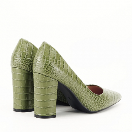 Pantofi kaki cu imprimeu Dalma4