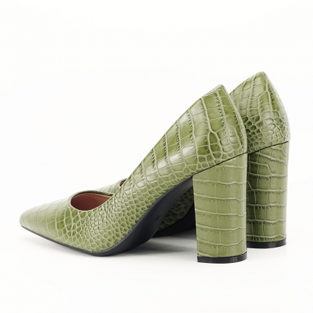 Pantofi kaki cu imprimeu Dalma3