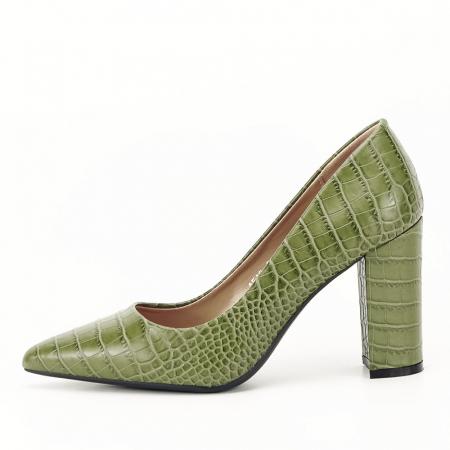 Pantofi kaki cu imprimeu Dalma0