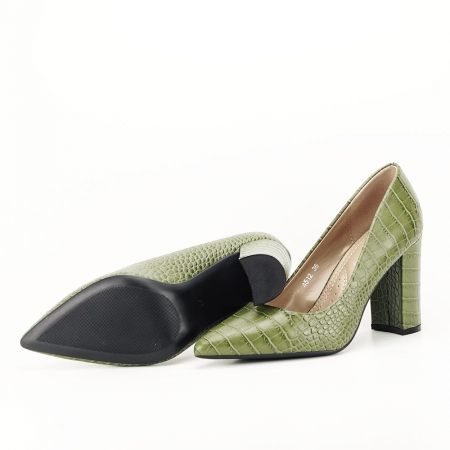 Pantofi kaki cu imprimeu Dalma7