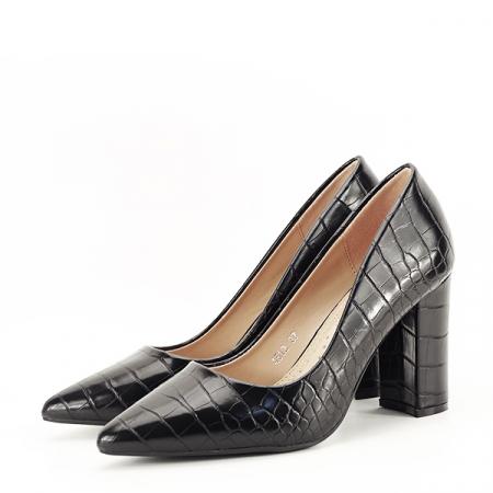Pantofi negri cu imprimeu Dalma 2 [1]